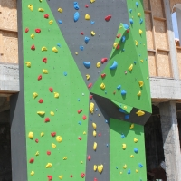 "Climbing wall at ""Aglika Palace"" complex 2014"